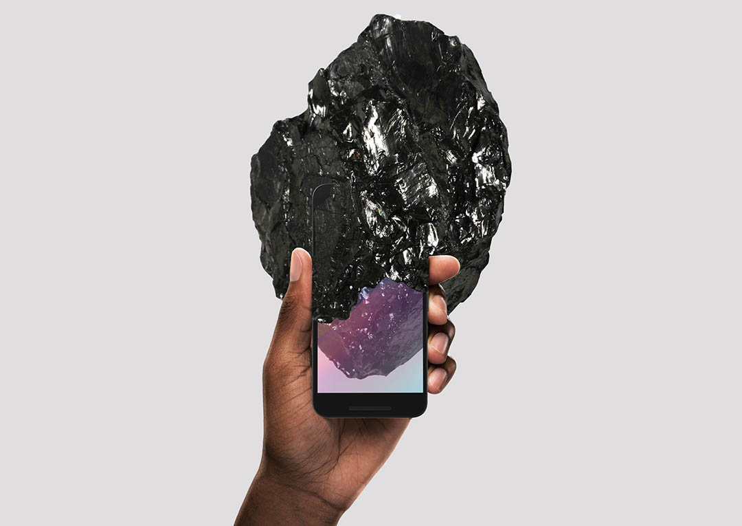 Paradoxical Objects phone anthracite coal